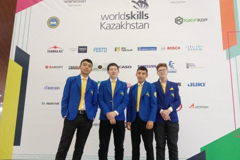 Студенты Туркестанской области завоевали 4 медали чемпионата Worldskills 2019