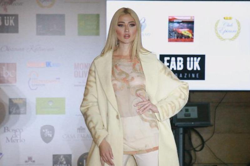 哈萨克斯坦设计师民族风服装亮相伦敦时装秀