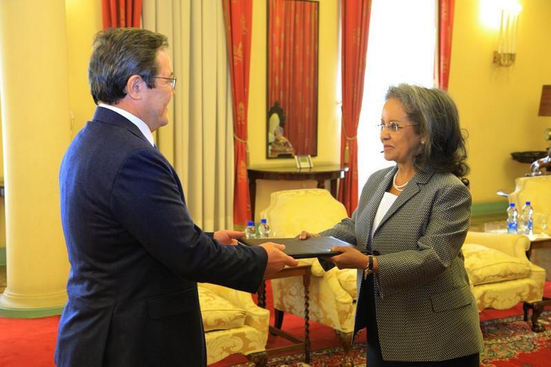 哈萨克斯坦大使向埃塞俄比亚总统递交国书