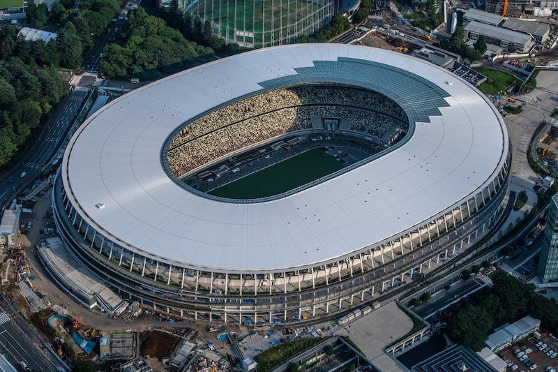 东京奥运会主场馆竣工