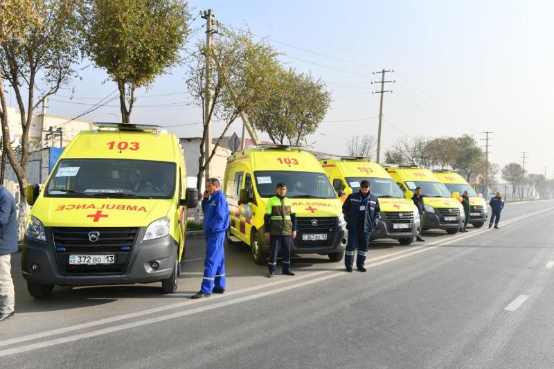 Автопарк «скорой помощи» Туркестанской области пополнился 16 новыми автомобилями