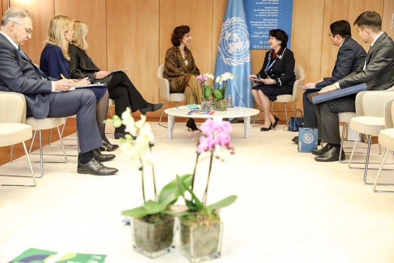 哈萨克斯坦文体部部长出席联合国教科文组织文化部长论坛