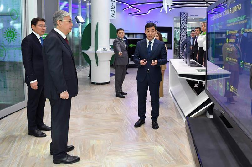 Мемлекет басшысы «Digital Centre» цифрлық халыққа қызмет көрсету орталығына барды