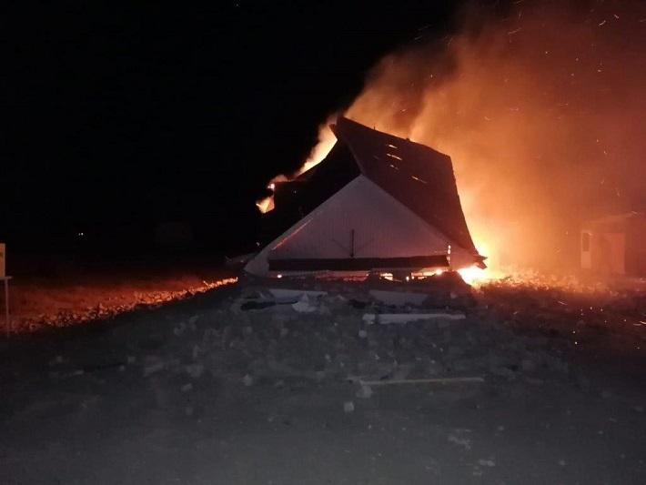 Взрыв газового баллона обрушил стены частного дома в Кызылорде