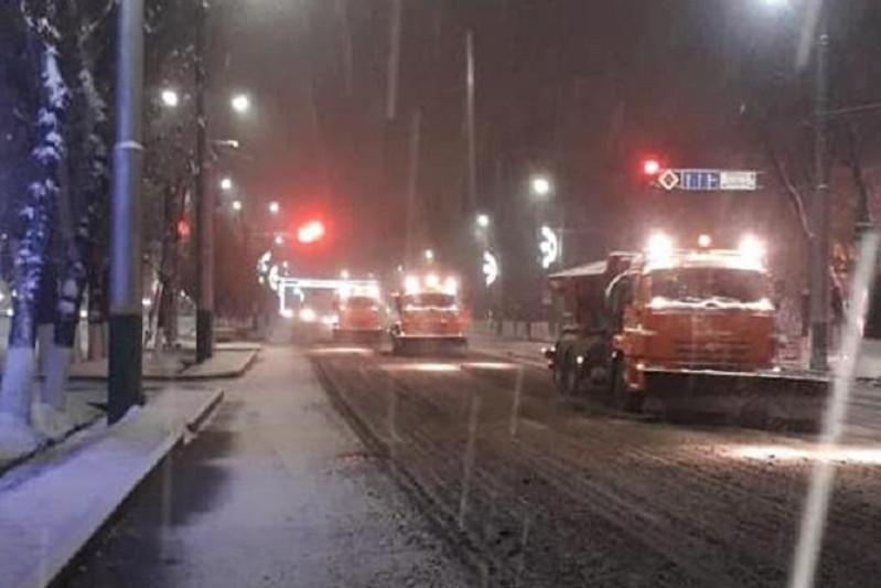 Первый снег выпал в Таразе