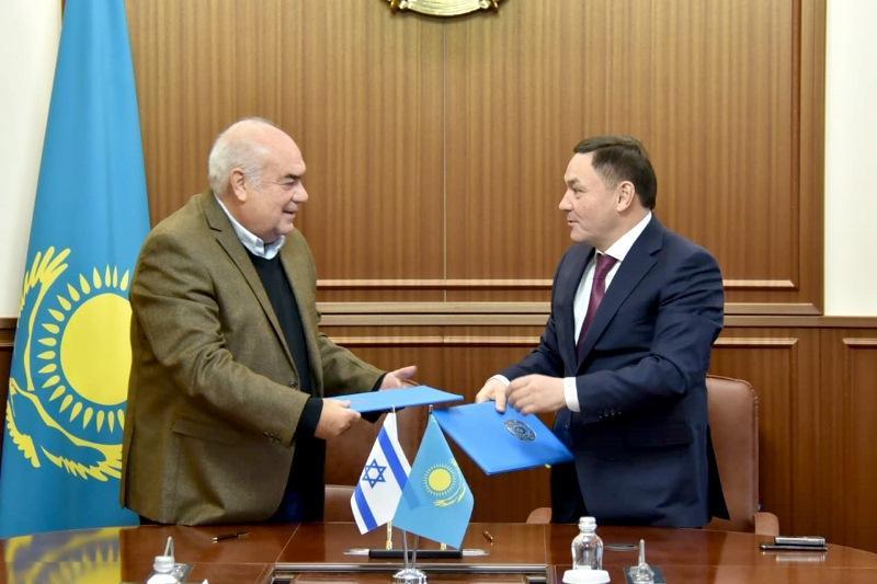 阿克莫拉州政府和以色列公司签署合作备忘录