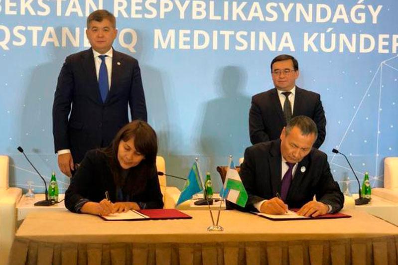 突厥斯坦州同塔什干州签署医疗领域合作备忘录