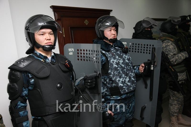 Алматинцев предупредили об антитеррористических учениях