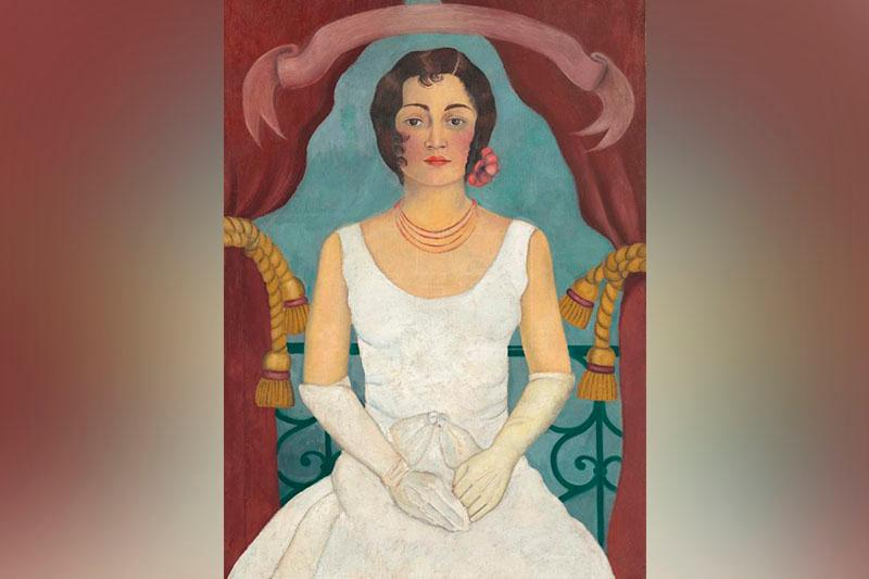 Frida Kahlo's 'Lady in White' reaches $5.8 million at New York auction
