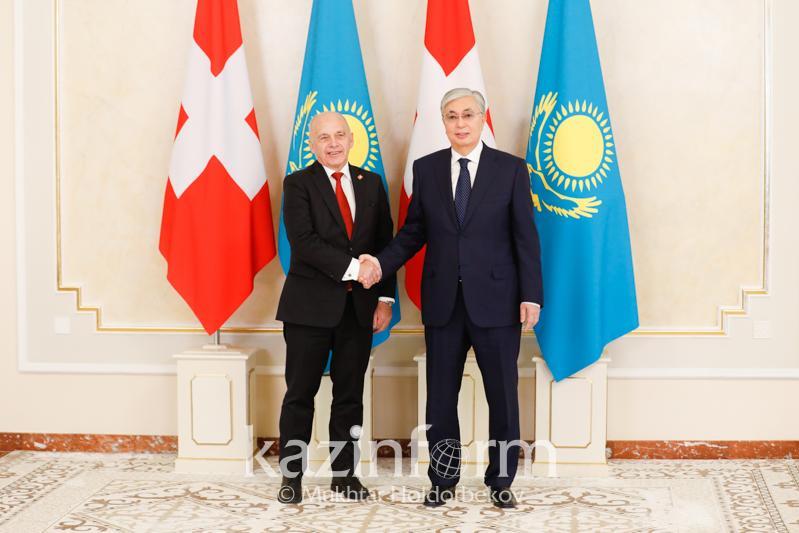 Касым-Жомарт Токаев и Ули Маурер оценили перспективы сотрудничества МФЦА с финансовым сектором Швейцарии