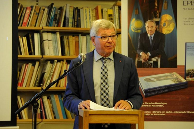 Nazarbayev's book on nuclear disarmament presented in Norway