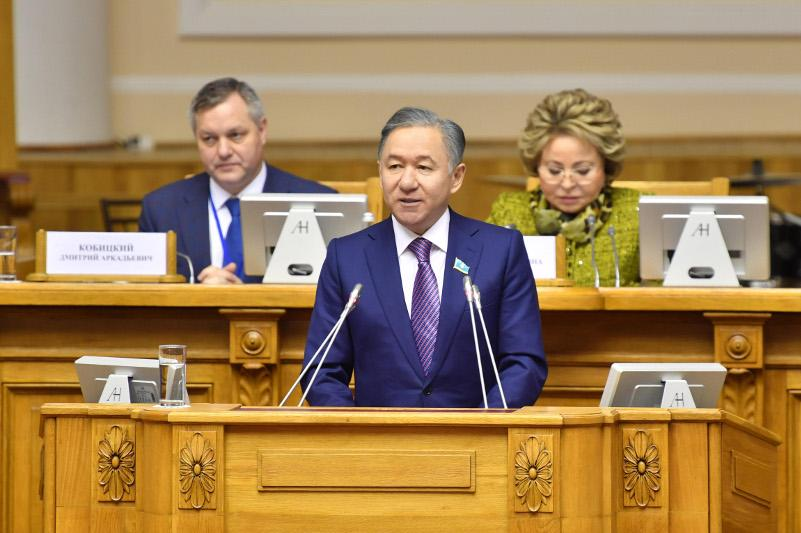 Majilis Speaker attends CIS IPA jubilee session in Saint-Petersburg