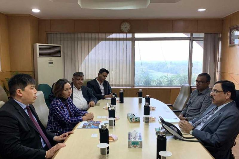 Kazakh Ambassador in India meets with Chairman of Steel Authority of India Ltd
