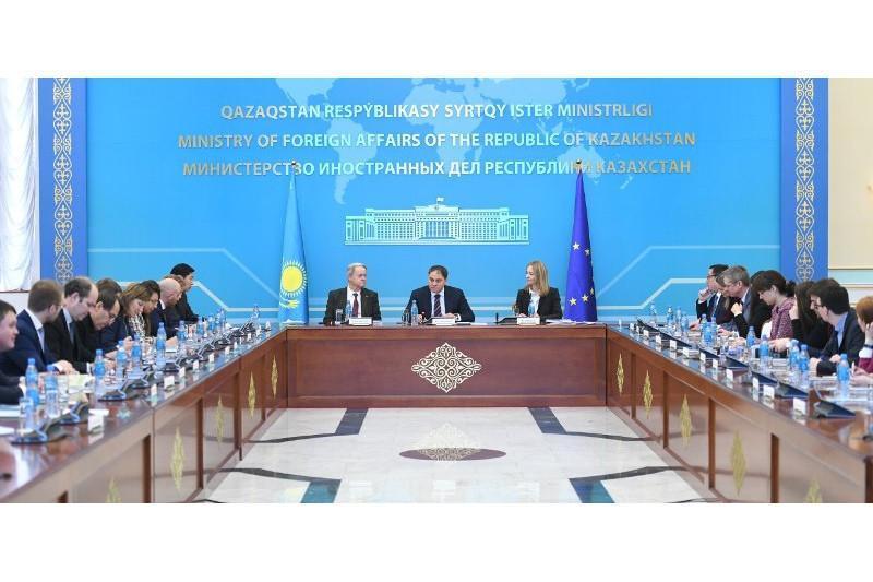 哈萨克斯坦副外长会见欧盟东欧中亚理事会工作组代表团