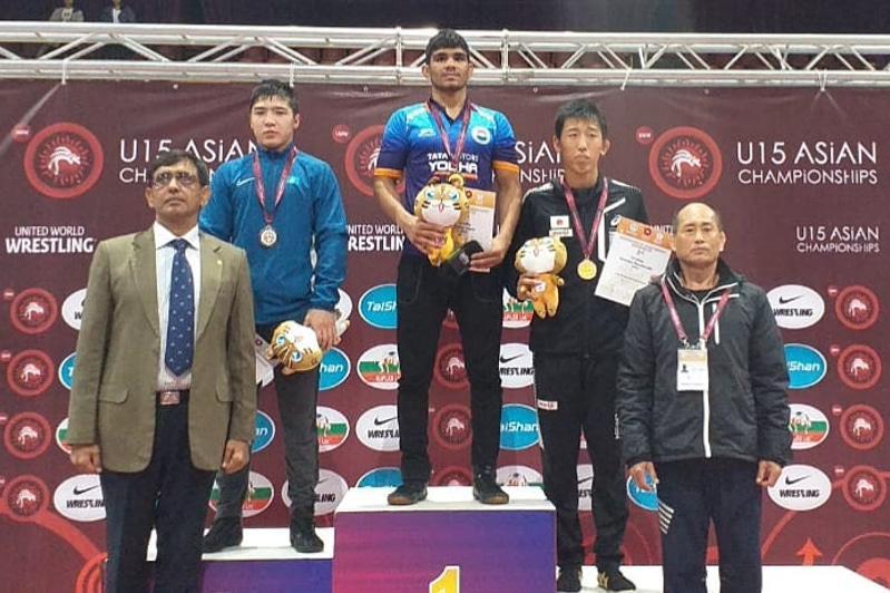 Акмолинский борец завоевал «серебро» на чемпионате Азии в Китае