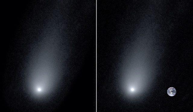 Астрономдар комета фонындағы кішкентай Жерді түсіріп алды