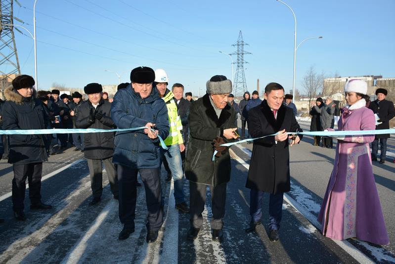 Новый автомобильный мост через реку Кылшакты открыли в Кокшетау