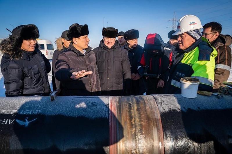Газификация столицы: Алтай Кульгинов проинспектировал ход сварки газовых труб