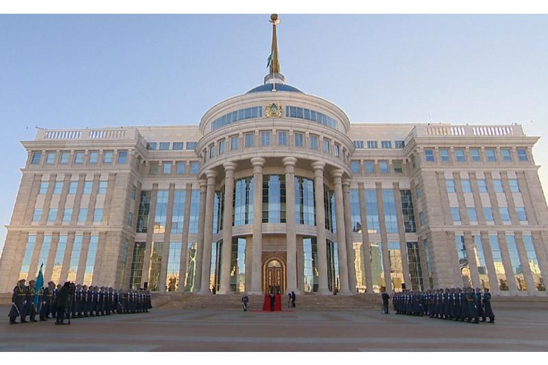 Akorda holds ceremony of raising the National Flag of Kazakhstan