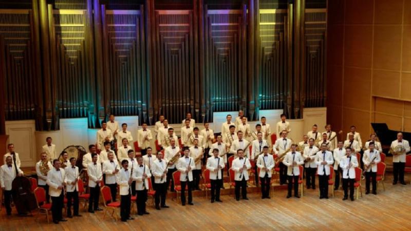 Государственный духовой оркестр Казахстана выступил в Ташкенте