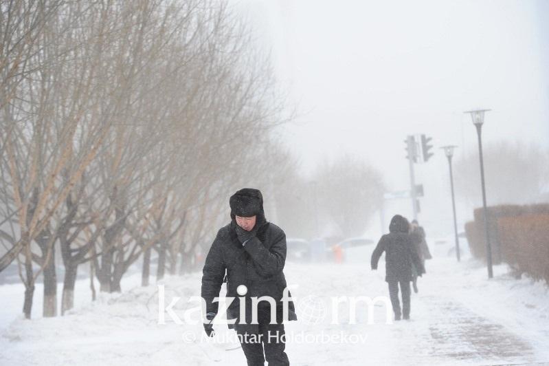 Snowstorm warning issued in Aktobe, Akmola regions