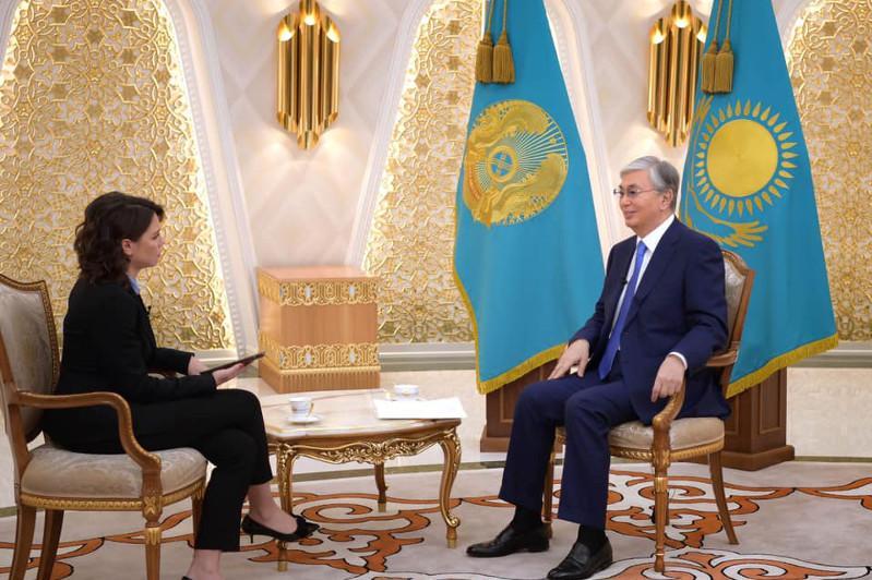Касым-Жомарт Токаев дал интервью телерадиокомпании Deutsche Welle