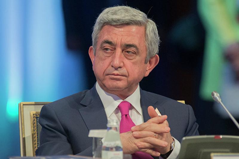 Экс-президенту Армении Сержу Саргсяну предъявлено обвинение