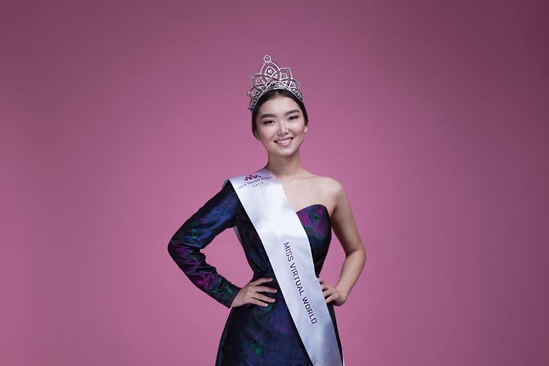 Miss Virtual World аруы атанған қазақстандықтың тәжі Мексикадан жеткізілді