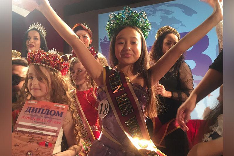 Семейлік оқушы халықаралық сұлулық байқауының жеңімпазы атанды