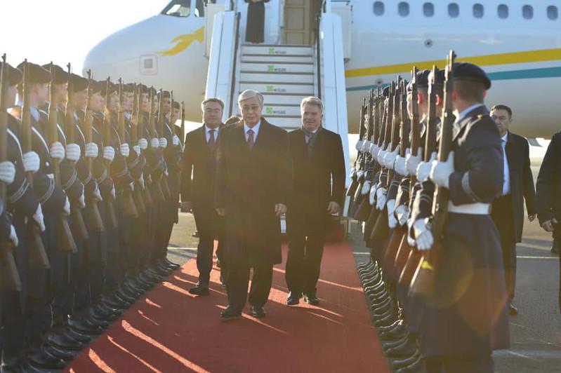 Kassym-Jomart Tokayev arrives in Germany
