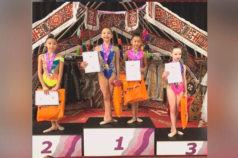 Павлодарская пятиклассница выиграла республиканский турнир по художественной гимнастике