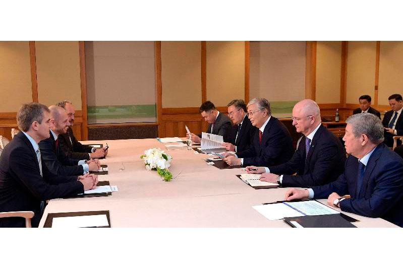 President of Kazakhstan holds meetings with reps of German business
