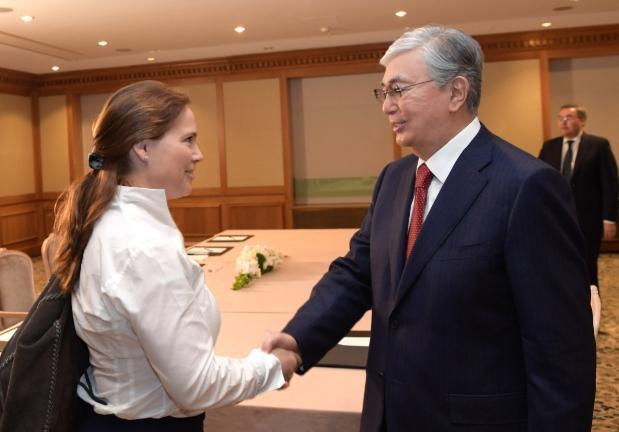 托卡耶夫总统会见德国工商界代表