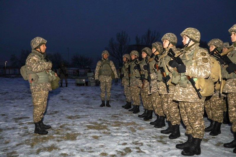 Бригада Десантно-штурмовых войск поднята по тревоге в Алматы
