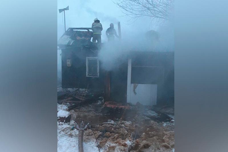 От гибели в огне спасли мужчину пожарные СКО
