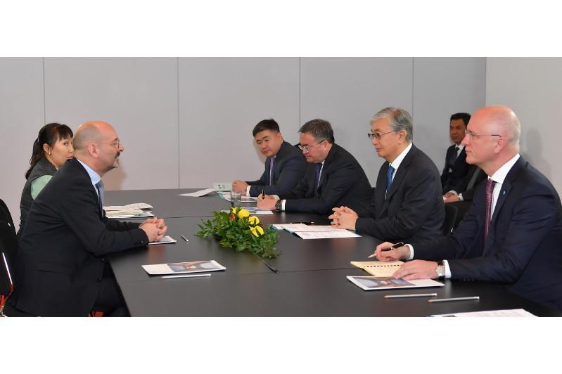 Президент РК провёл беседу с директором отдела внешних связей Института Fraunhofer