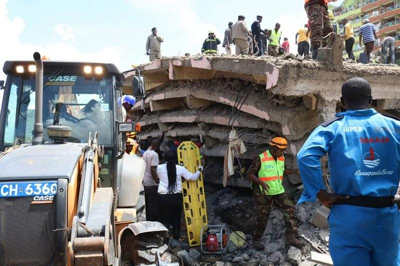 Death toll from Nairobi building collapse hits 5
