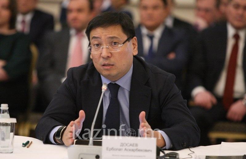 О мерах по снижению потребительского импорта рассказал Ерболат Досаев
