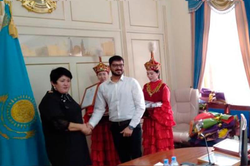Индийский студент стал призером конкурса сочинений на тему Послания Президента РК