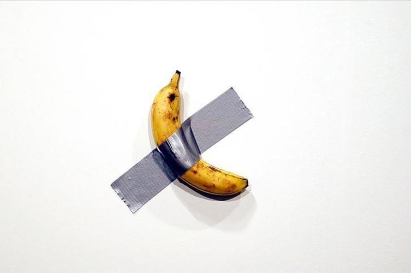 """""""饥饿的艺术家""""事件后 警方被派去保护价值12万美元的香蕉"""