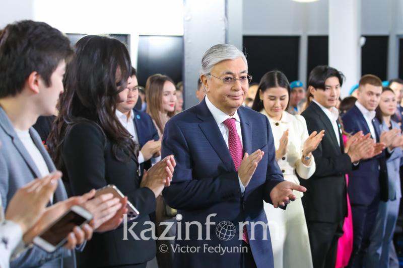 ҚР  Президенті Жастар жылының жабылу және Волонтер жылының ашылу салтанатына қатысуда