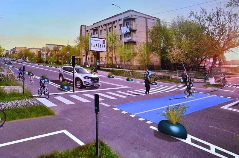 В акимате Шымкента представлена пятилетняя стратегия развития городской велосети