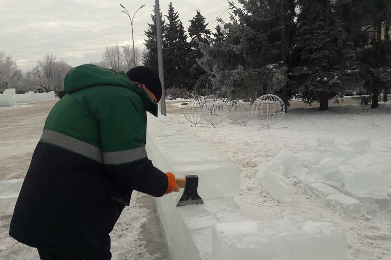За счет спонсоров оформляют Петропавловск к Новому году