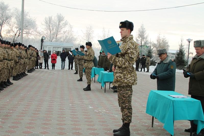 Более 40 стрелков приняли воинскую присягу в СКО