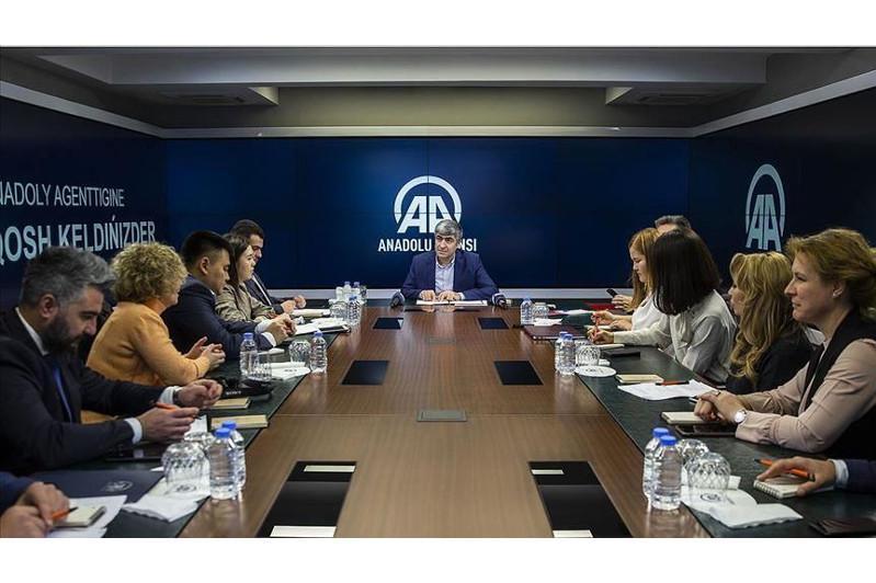 Kazakh media delegation visits Anadolu Agency