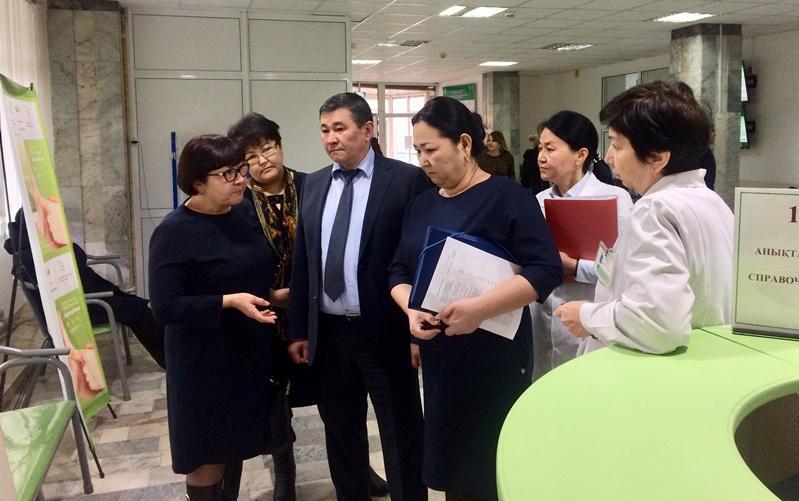 Медицинские объекты Жамбылской области проверили на готовность к внедрению ОСМС