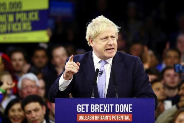 英国大选出口民调显示约翰逊将连任首相