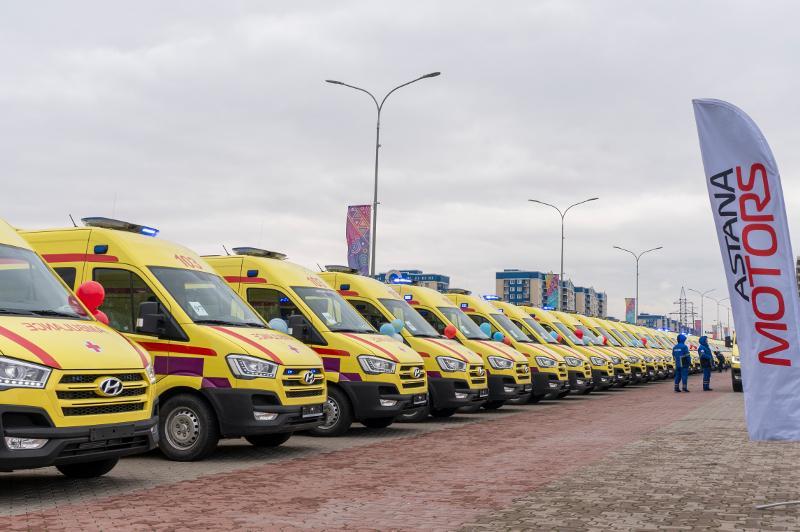 «Астана Моторс» передала 100 новых автомобилей для станции скорой помощи в Шымкенте