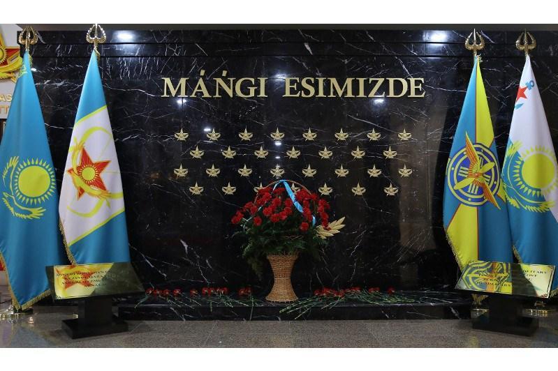 Қорғаныс министрлігінде қаза болған әскери қызметшілерге мемориал ашылды