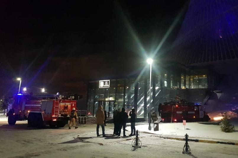 Пожар произошел в столичном «Хан Шатыре»